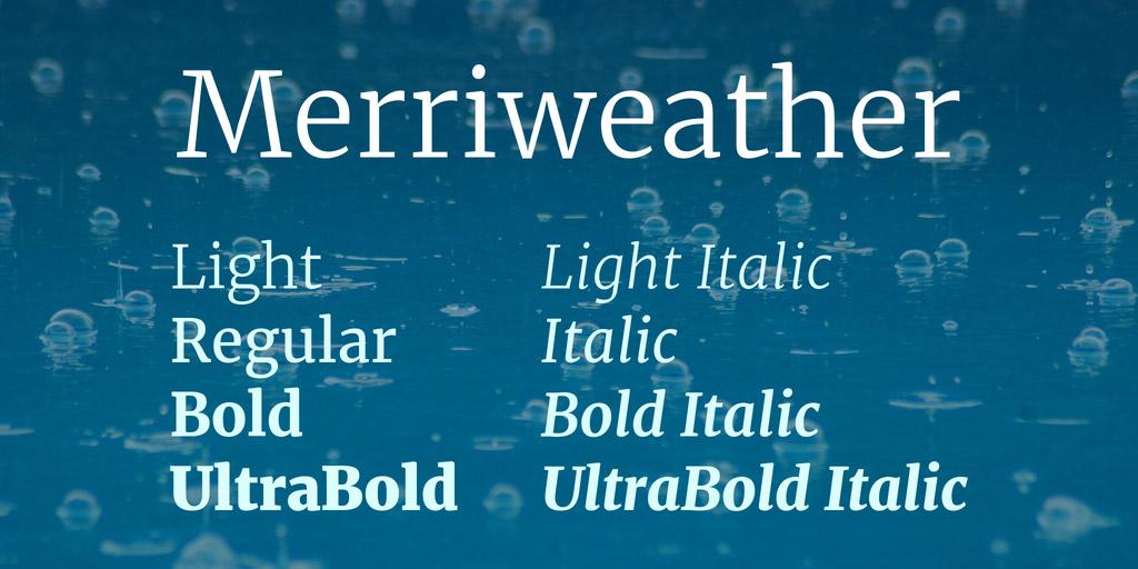 serif font family