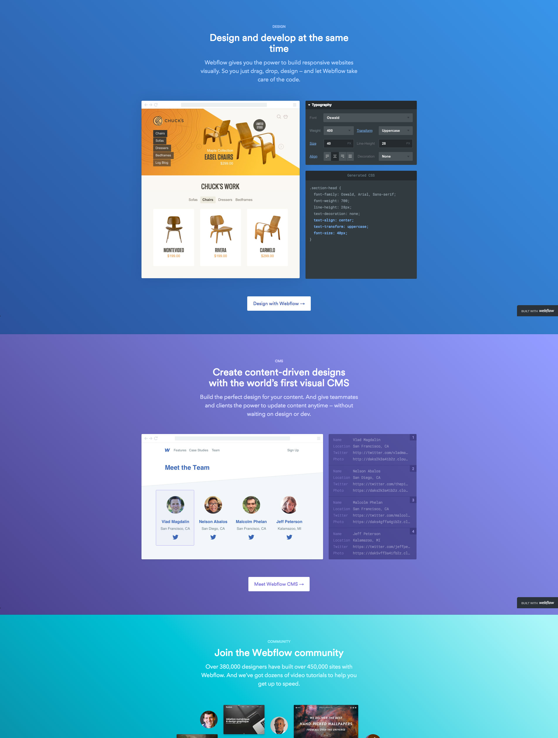 background gradient websites