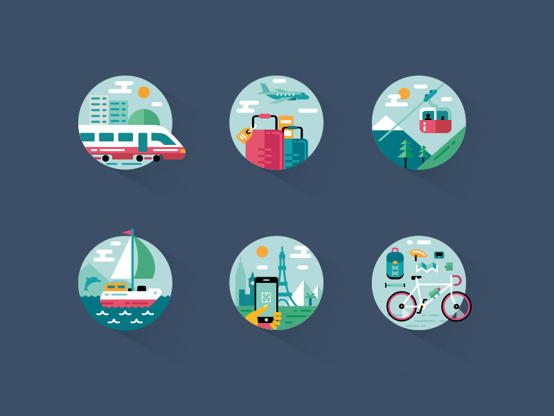 colorful icon sets