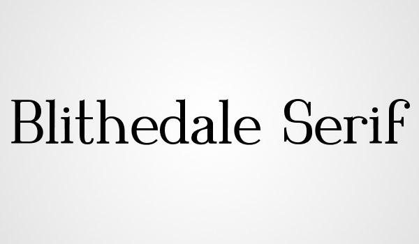 serif font freebie