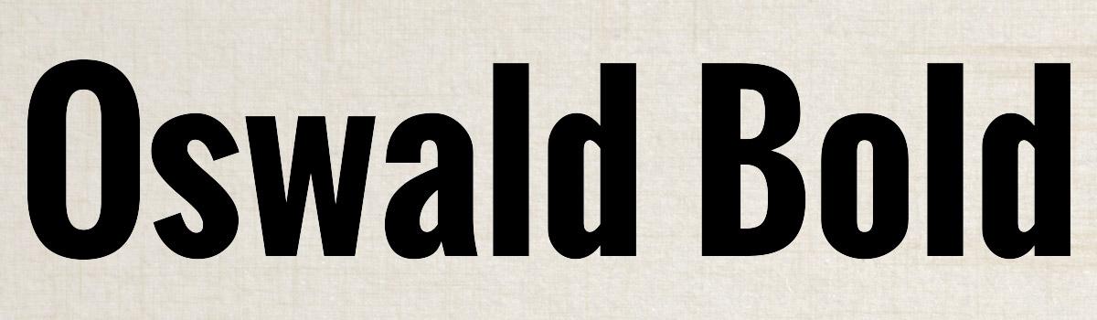 bold black font