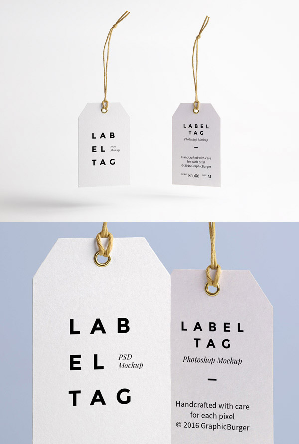 clean elegant tag