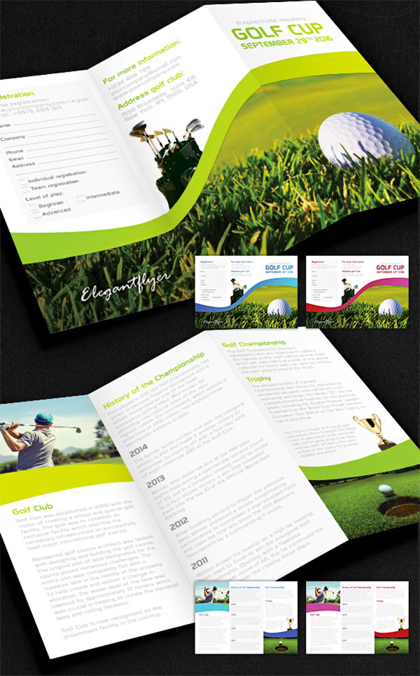 golf brochures templates