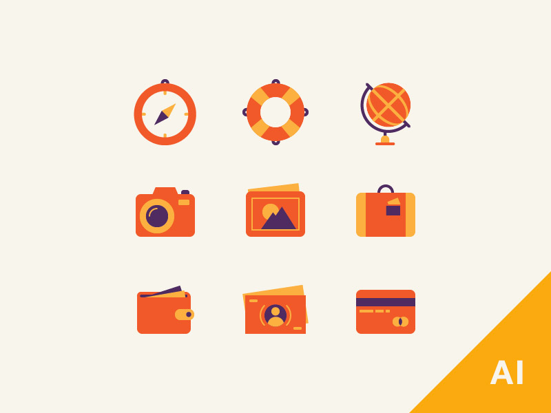orange icons AI