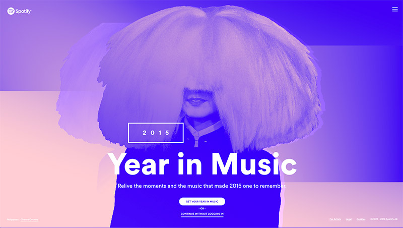 spotify web design