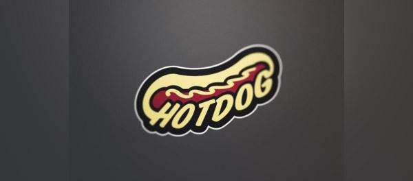 typography logo hotdog