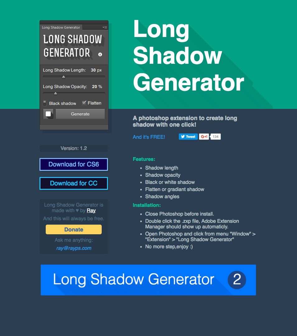 long shadow plugin