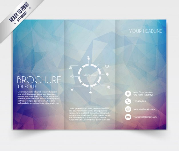 low poly brochure