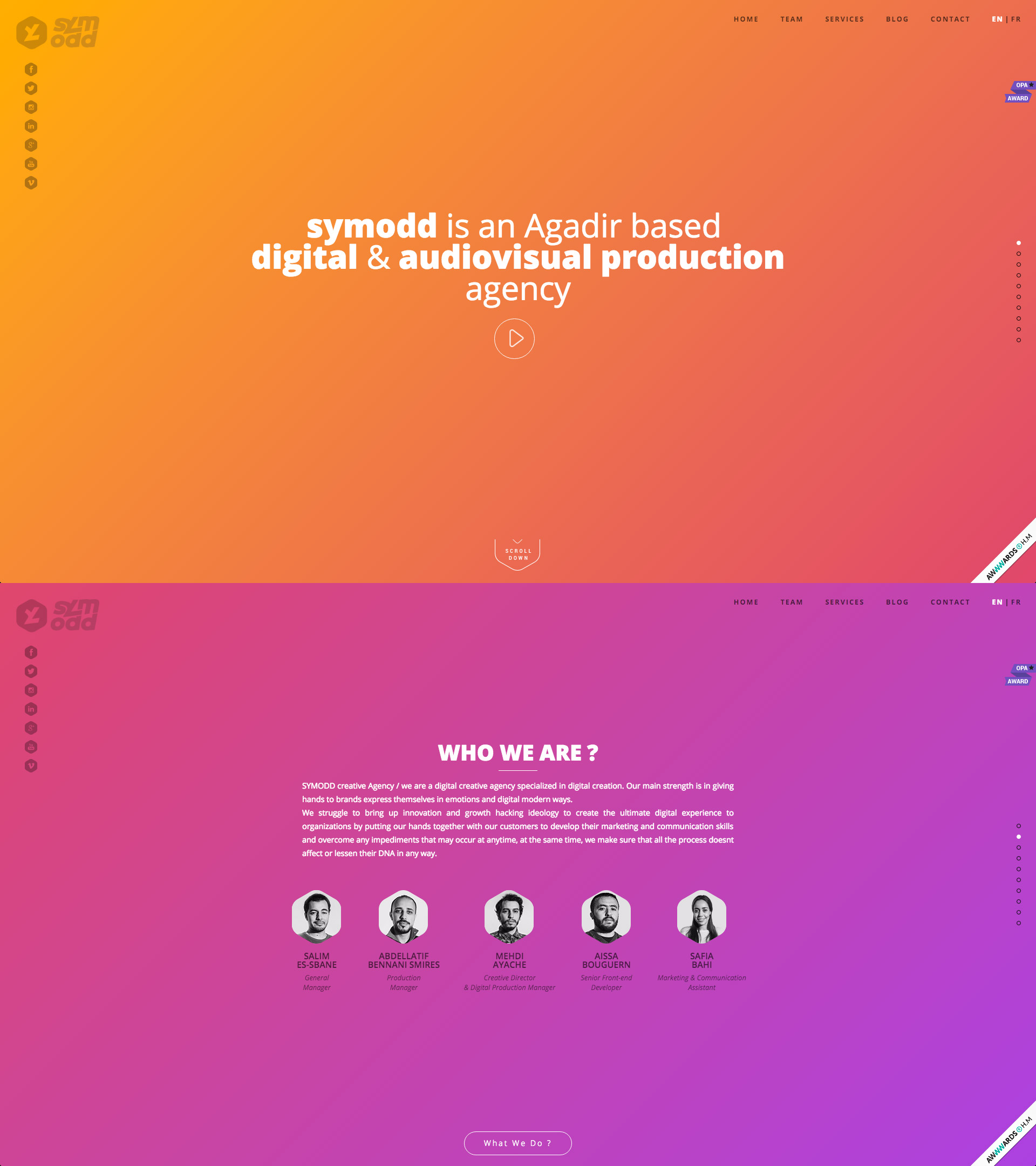 slider background gradient