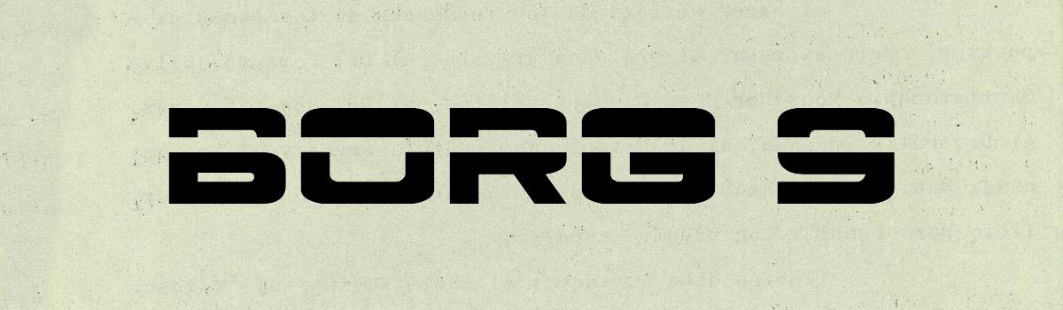 retro techno font