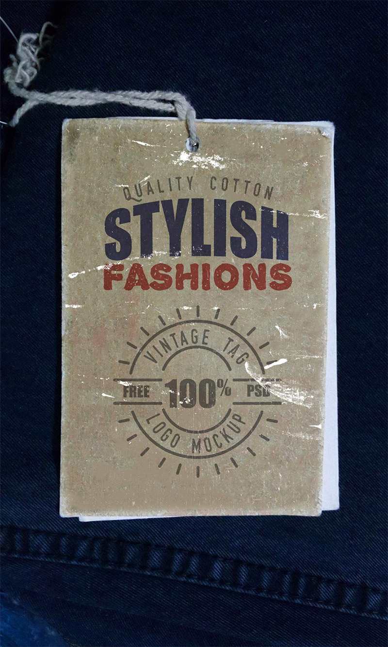 vintage label psd