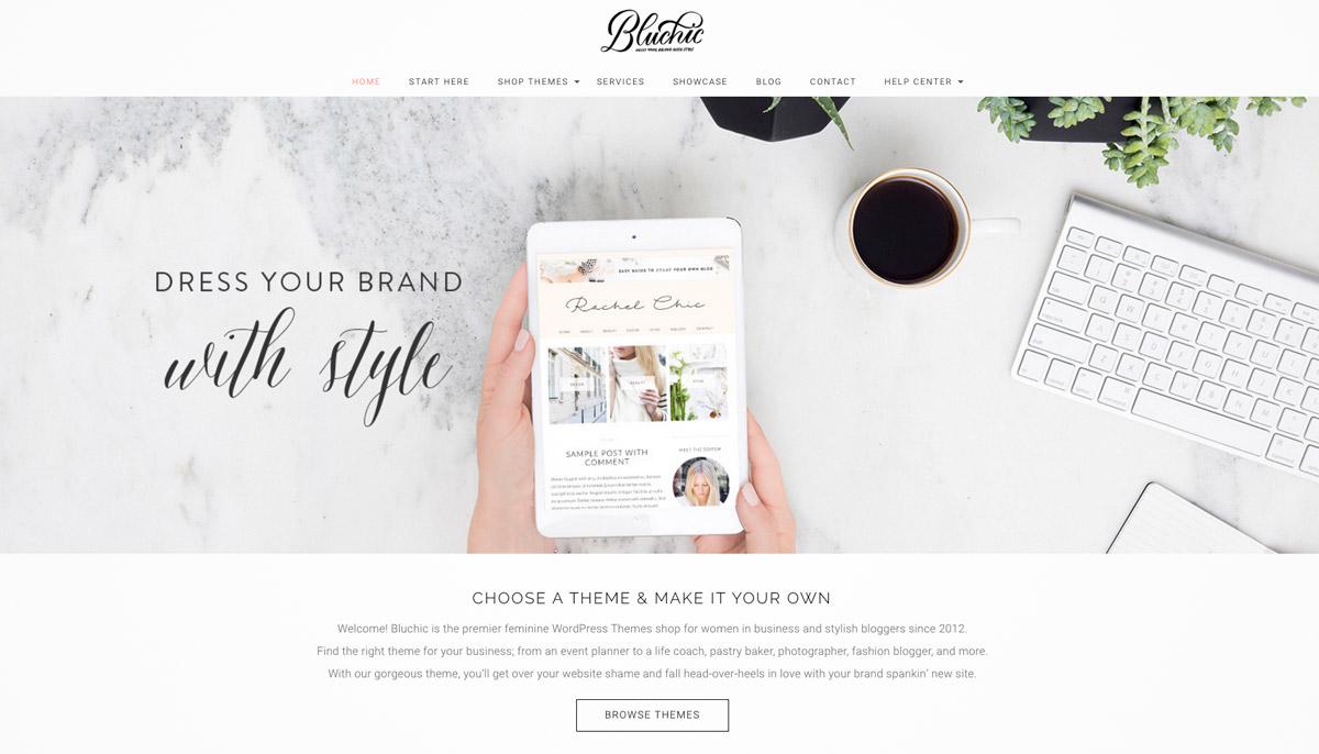 feminine minimal website