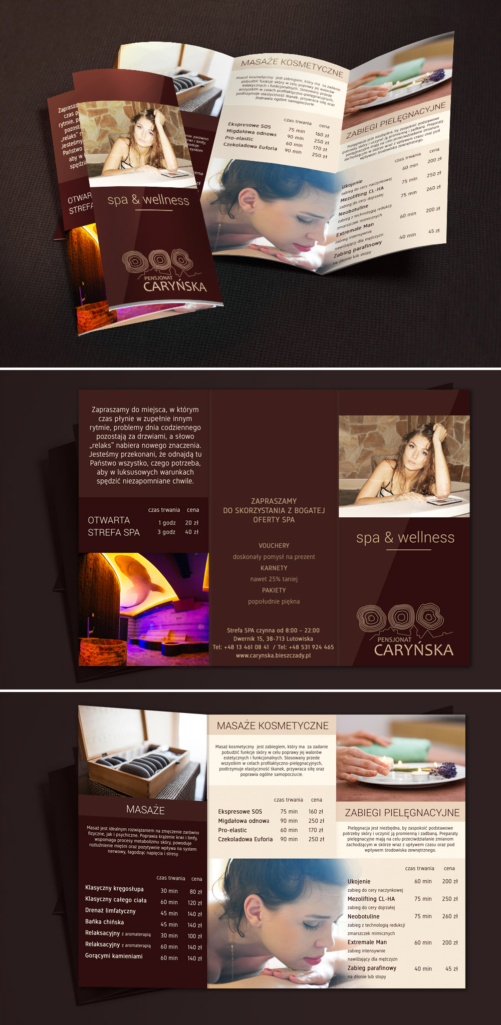spa theme brochure