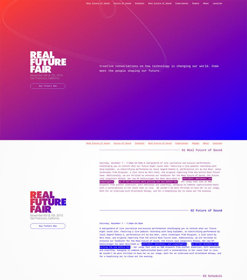 violet gradient site