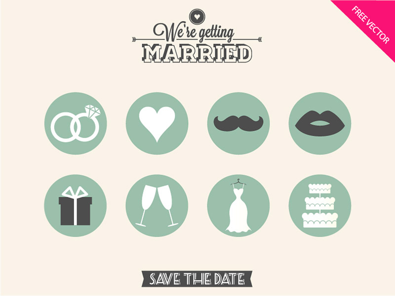 wedding icon sets