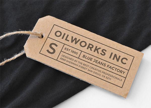 cardboard tags mockup