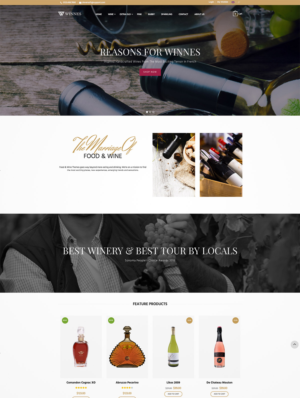 wine theme wordpress