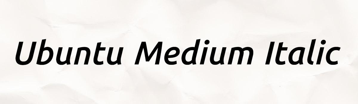 medium italic