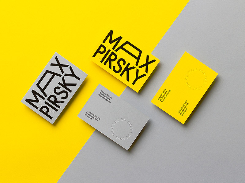 20 Minimalistic Business Card Designs For You To See | Naldz Graphics