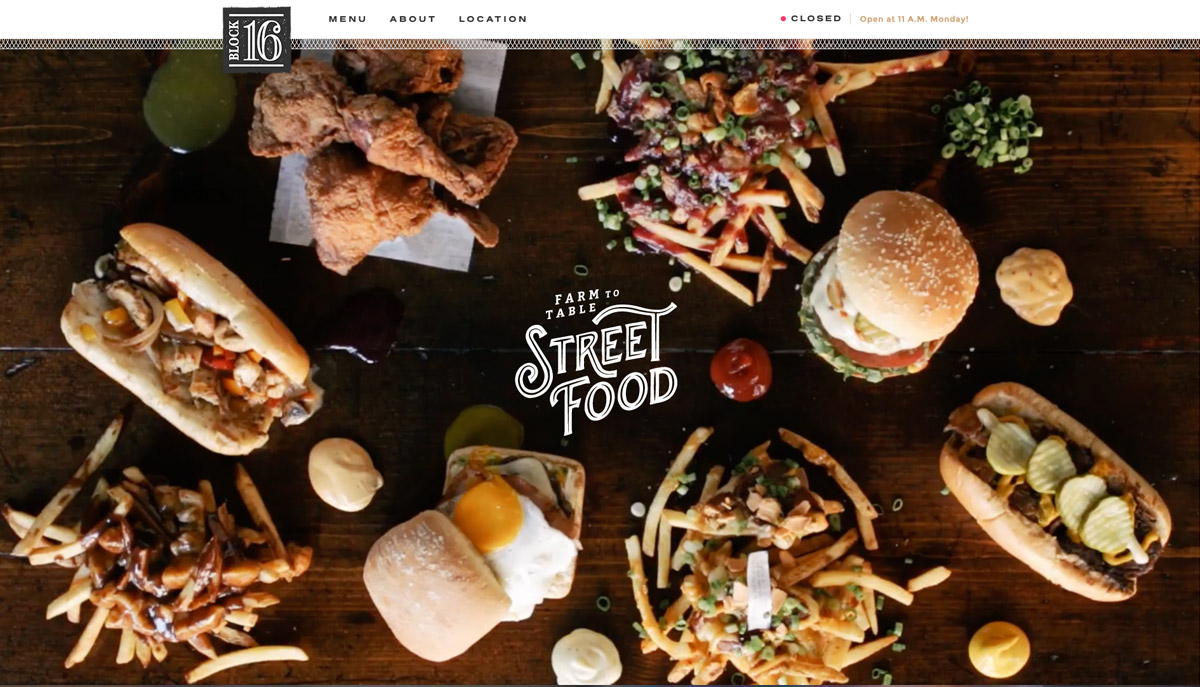 food site typeface