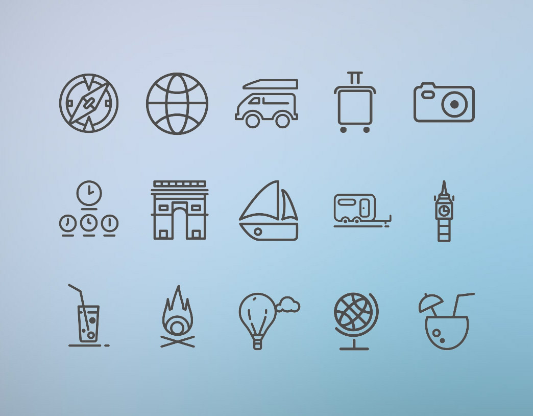 travel icon sets