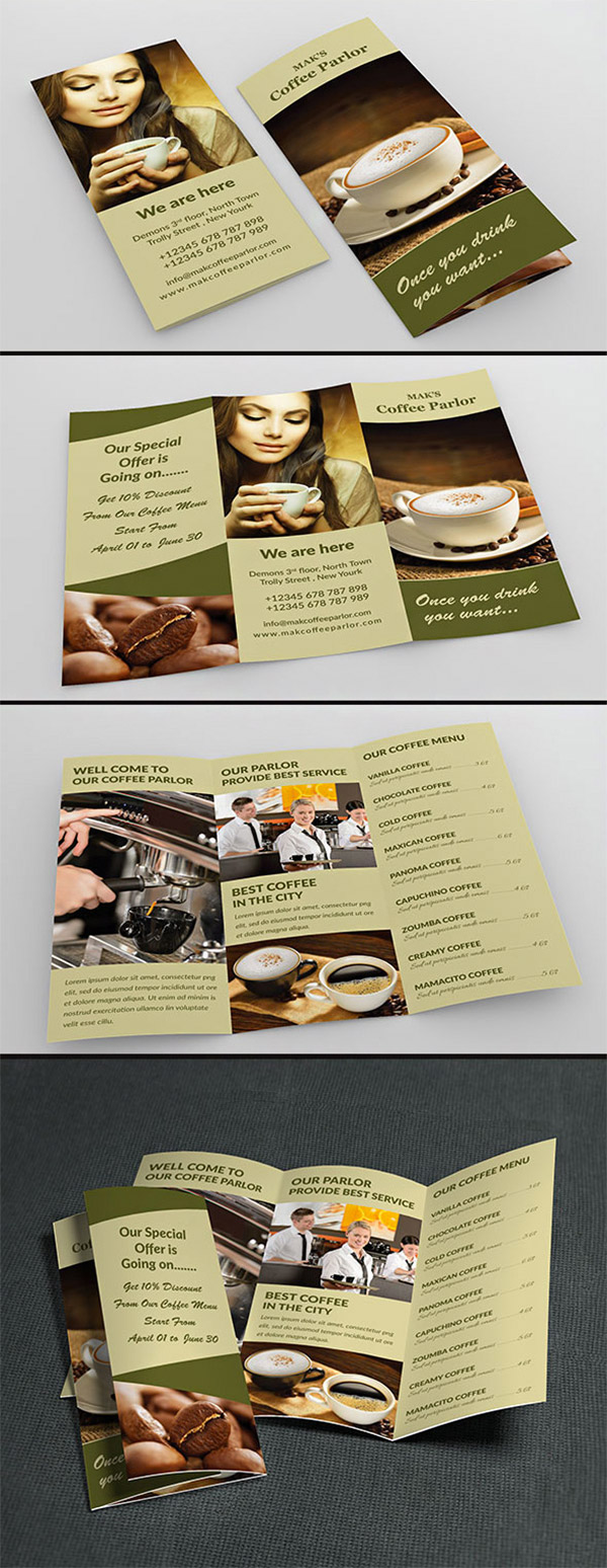 coffee trifold design