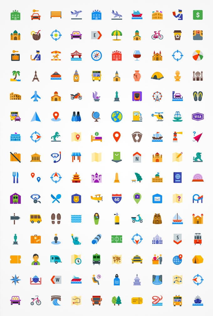 line icons travel