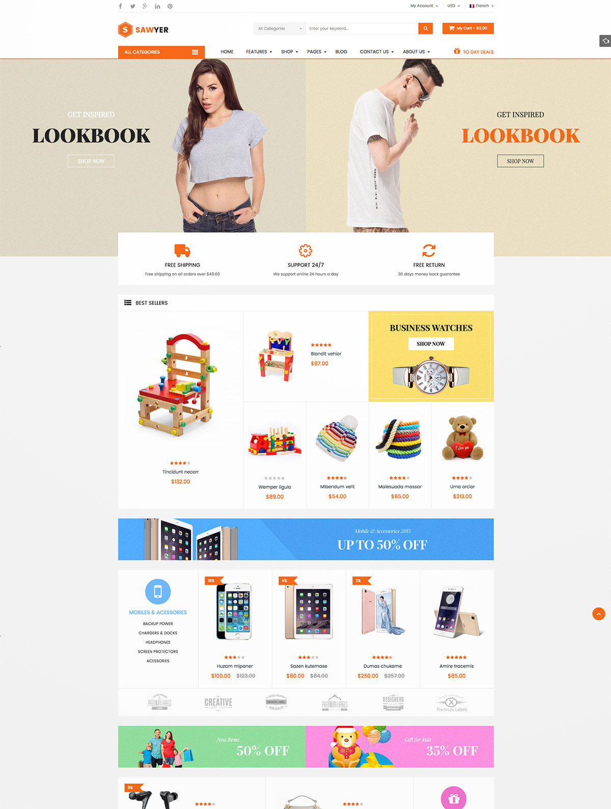 ecommerce themes wordpress