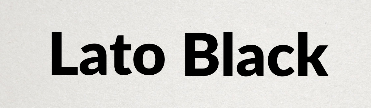 black web font