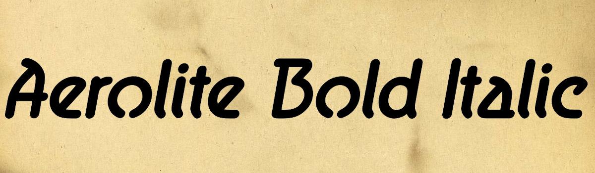 bold italic font