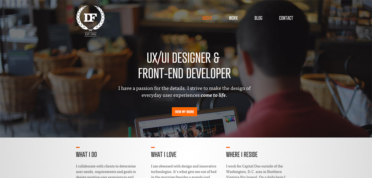 designer header website