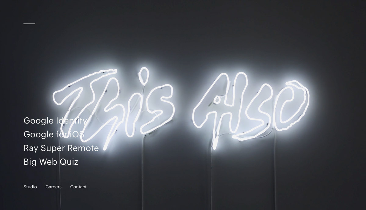 light typography