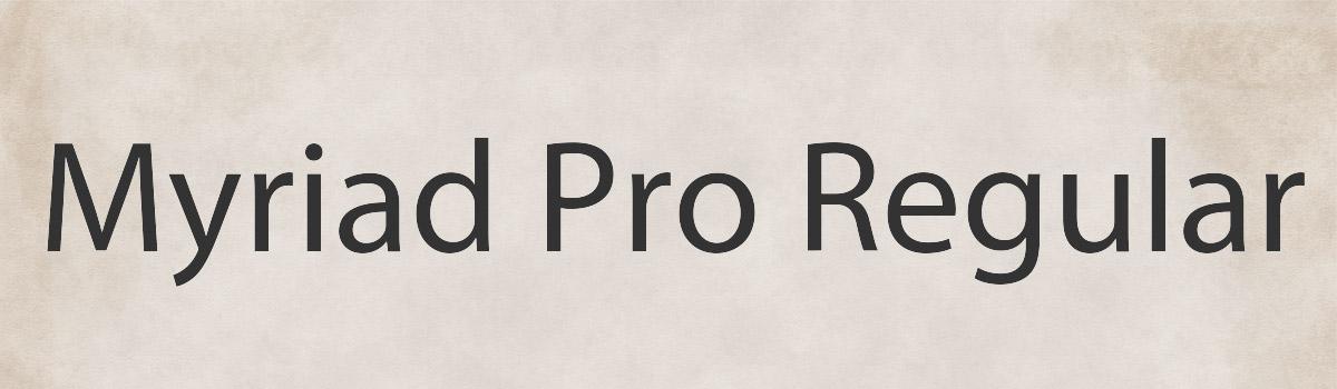 pro web font