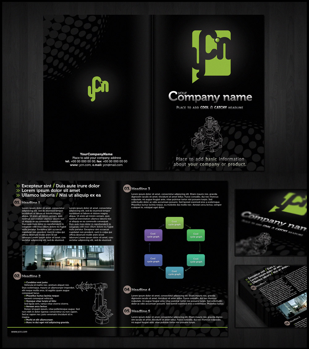 dark brochure templates