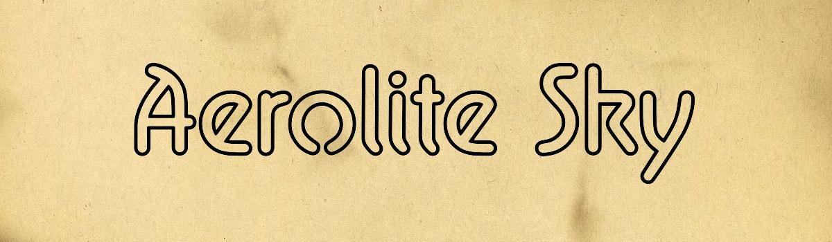 outline sci-fi font