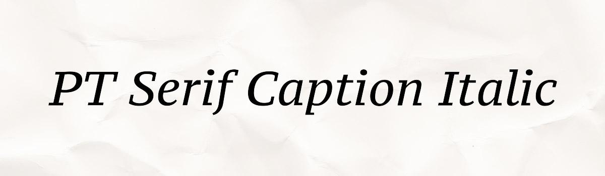 caption italic