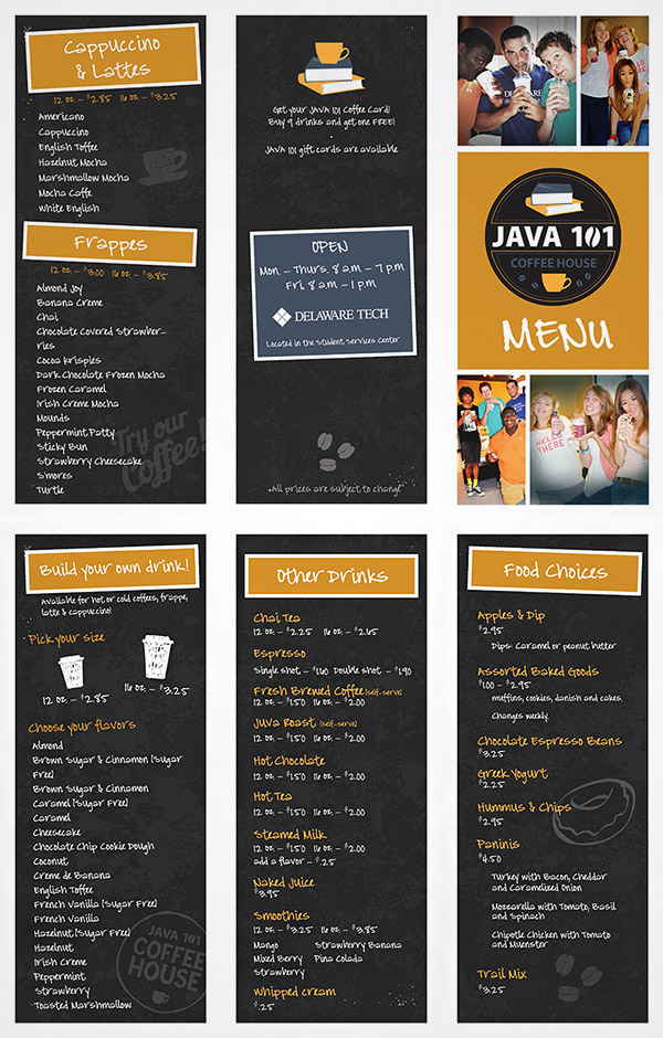 sketch menu brochure
