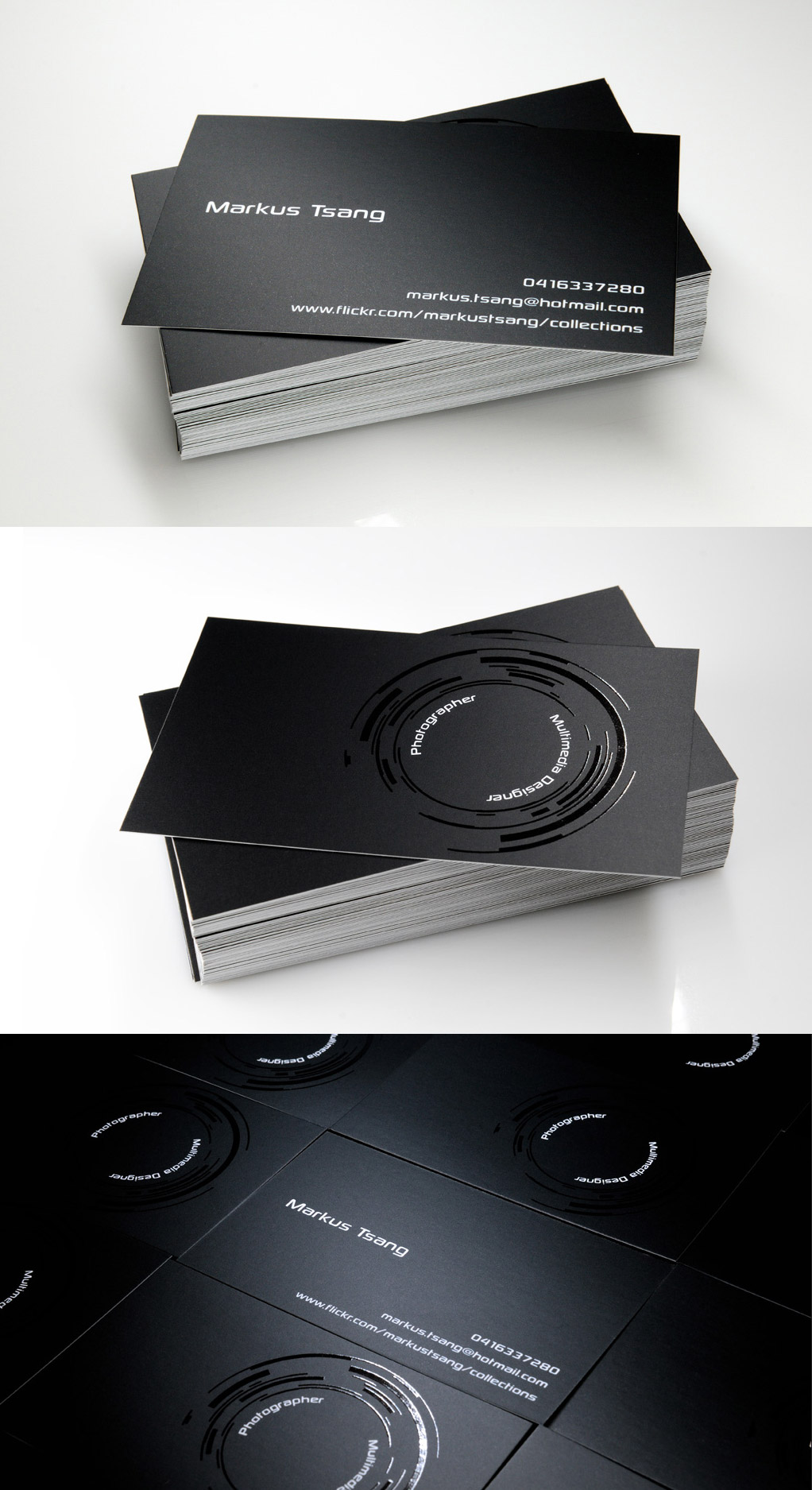 photography minimal business card