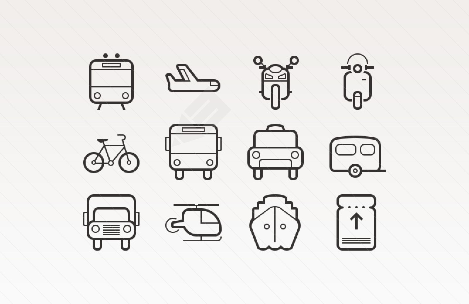 vector icons transpo