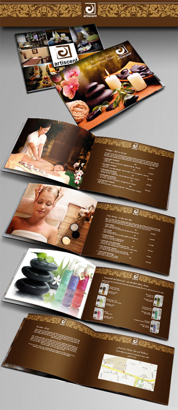 wellness catalogue design