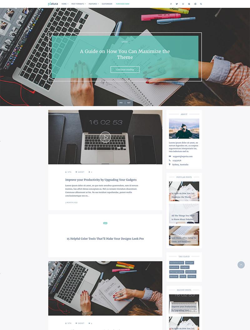 responsive blog theme