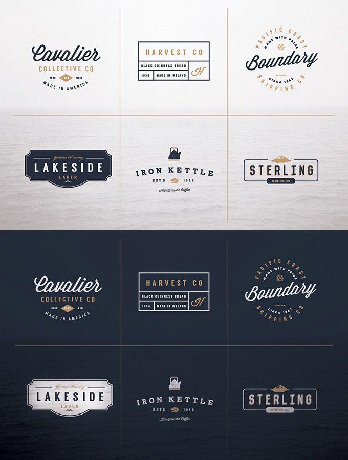 collection logo mockups