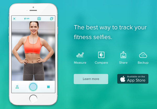 fitness app web design