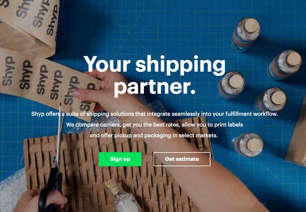 shipping app design