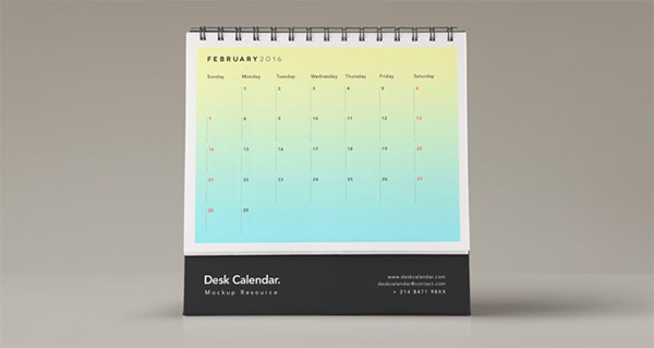 psd calendar freebie