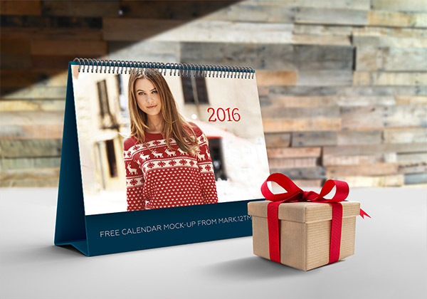 calendar photoshop mockup