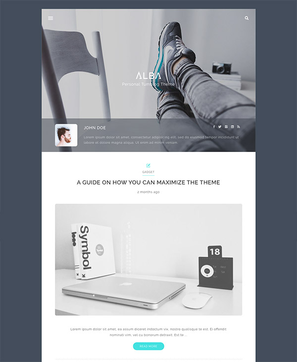 tumblog wordpress theme