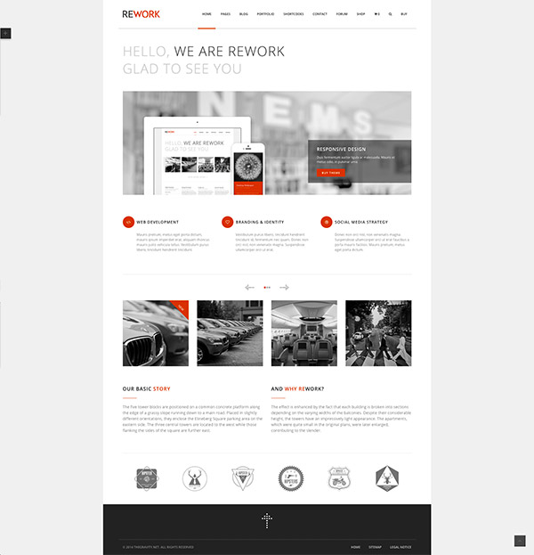 modern theme wordpress