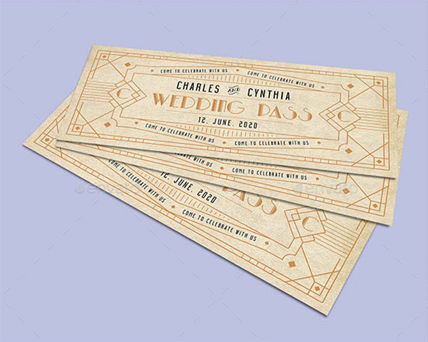 ticket wedding