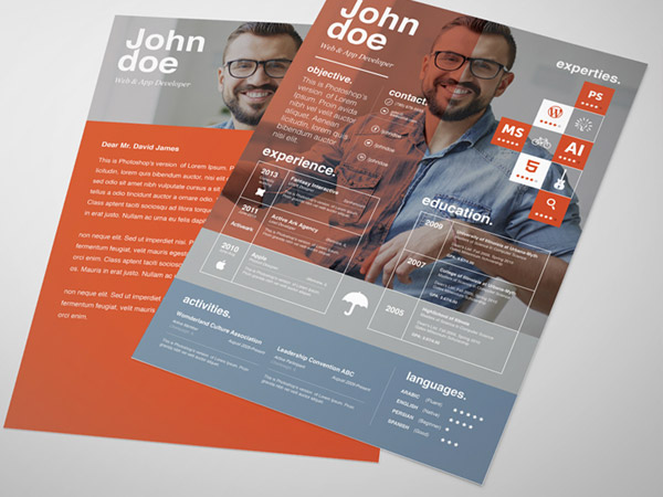 resume template theme